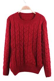 pullover sweater neck cable knit ribbed pullover sweater shein sheinside