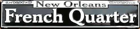 bourbon sign new orleans quarters tin metal sign bourbon