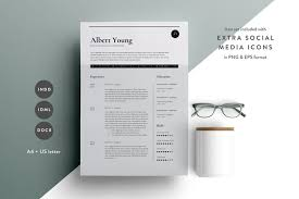resume template indesign resume template 3 page cv template indd docx by