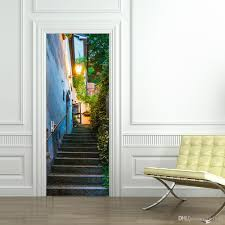 removable diy 3d san marino street view door sticker 3d decorative removable diy 3d san marino street view door sticker 3d decorative removable street light stairs wall sticker mural decal home decor wall murals decals wall