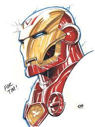 iron man marker sketch by dna 1 on deviantart