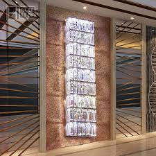 modern large exquisite crystal lighting parlor tall crystal wall
