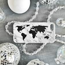World Map Tablecloth by Black And White Marble World Map Phone Case U2013 Arla Laserworks