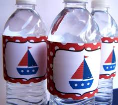 Nautical Party Theme - nautical party decor printable water bottle labels the