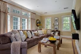 extra long couch family room traditional with cocktail table