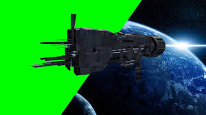 spaceship u s s sulaco fly by free green screen youtube