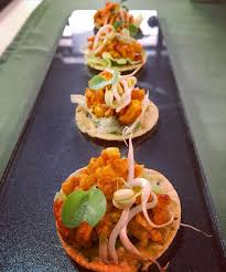 m canapes achari paneer chicken canapés the base is mini crispy