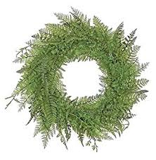 mixed fern wreath 24 inch artificial home kitchen
