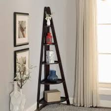 Lyss 5 Tier Corner Ladder by Danya B 63 In Espresso Finish 5 Tier Corner Ladder Display