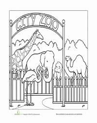 paint places paint the town zoo worksheet education com
