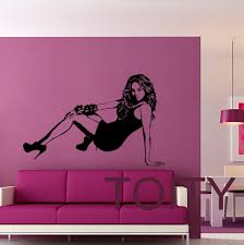 musical wall decals promotion shop for promotional musical wall beyonce knowles wall sticker celebrity pop music vinyl decal dorm studio bar teen room home interior decor american singer mural