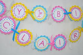 Birthday Decorations For Girls Girls Birthday Door Sign Chevron Birthday Decorations With