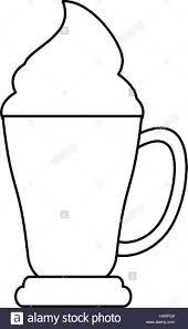 espresso coffee clipart coffee cup espresso cream outline stock vector art u0026 illustration
