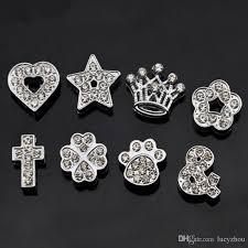 10mm diamond 2018 10mm 9 type silvery rhinestone charms diamond heart flower