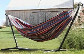 vivere double hammock with space saving steel stand review