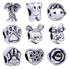 bead charm necklace images Online shop 1pc silver bead charm european mouse head boy tooth jpg