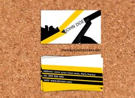 stylish business card free vector in open office drawing svg