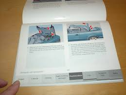 mercedes benz benz c208 a208 clk class owners manual handbook