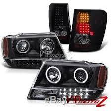 2004 jeep grand cherokee tail light assembly 1999 2004 jeep grand cherokee wg wj black halo projector headlight