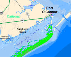 fishing maps and spots for port o connor