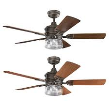 Kichler Deck Lights by Outdoor Ceiling Fan With Light By Kichler 310139oz