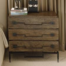 nightstand three drawer wide chest in dark brushed mango by