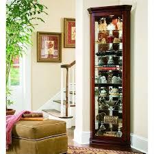 Pulaski Curio Cabinet Used Pulaski Curios 8 Shelf Corner Cabinet In Victorian Cherry