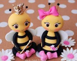 bumble bee cake toppers fondant baby cake topper baby bee cake topper baby shower