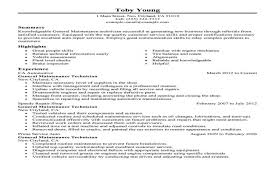 maintenance sample resume research plan example