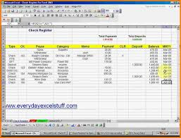 checkbook register for excel 6 checkbook register excel resume reference
