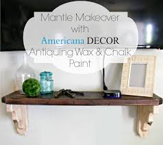 mantle makeover with americana decor antiquing wax and chalk paint