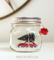 halloween snow globe car in jar snow globe mason jar crafts love