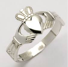 claddagh ring story sterling silver claddagh ring with knot cuffs 11m