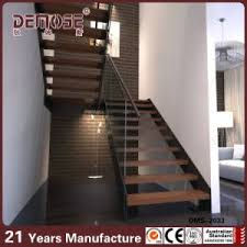 china indoor wooden stairs steps for u shape stairs dms 2033