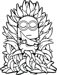 minion banana coloring pages split printable print minion