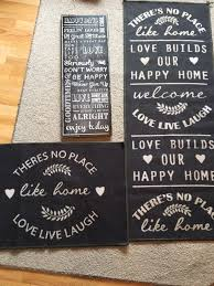 vintage style shabby chic slogan runner rug door mat rug and