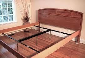 Metal Bed Frame Support Metal Bed Side Rails V Rail Adjustable Center Support System For