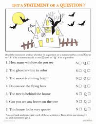 statements and questions halloween edition writing sentences