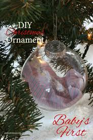 diy baby u0027s first christmas ornament christmas ornament ornament