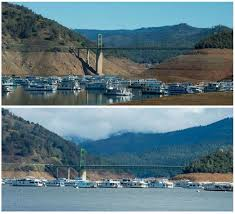 California lakes images Stunning before and after pictures of the california drought and JPG