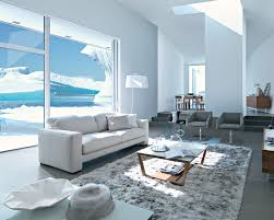 Square Shag Rug Living Room Brown Wood Simple Coffee Table With Grey Shag Fur