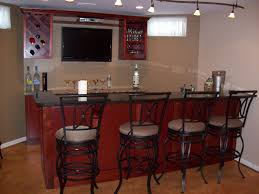 Home Bar Furniture Curved Brown Oak Wood Counter Bar Combined With Wine Storage