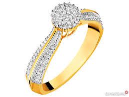 apart pierscionki apart pierścionek z żółtego złota 81 diamentów wrocław