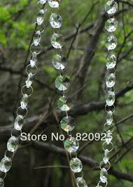 aliexpress buy 6m clear glass garland bead chain