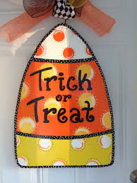 candy corn door hanger halloween door hanger fall door