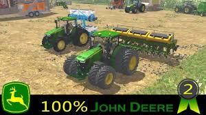 john deere tractor game 8335r john deere tractor john deere l la new holland t6 john deere farming simulator 2013 ep2 100 john deere youtube