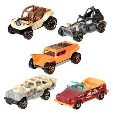 jurassic park tour car amazon com matchbox jurassic world 1 64 vehicle 5 pack styles