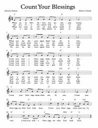 free thanksgiving music downloads free sheet music for count your blessings enjoy free sheet