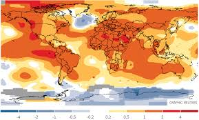World Temperature Map October by What Climate Change Looks Like The Straits Times