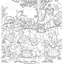 pal clipart of a coloring page outline design of friends gathered
